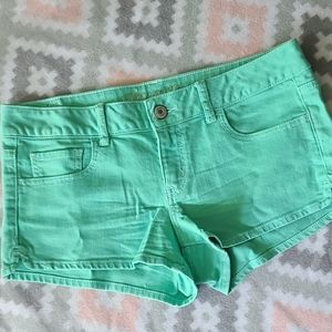 🦅 American Eagle Outfitters Teal Jean Shorts